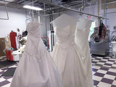 Wedding gown for Where to dry clean wedding dress